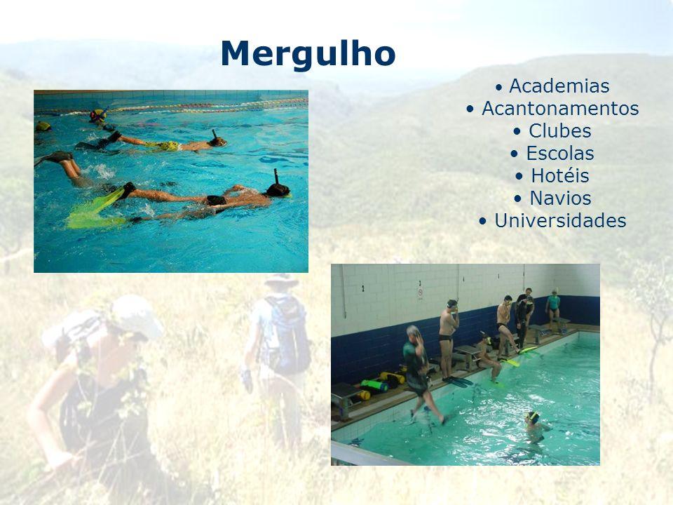 Mergulho Acantonamentos Clubes Escolas Hotéis Navios Universidades