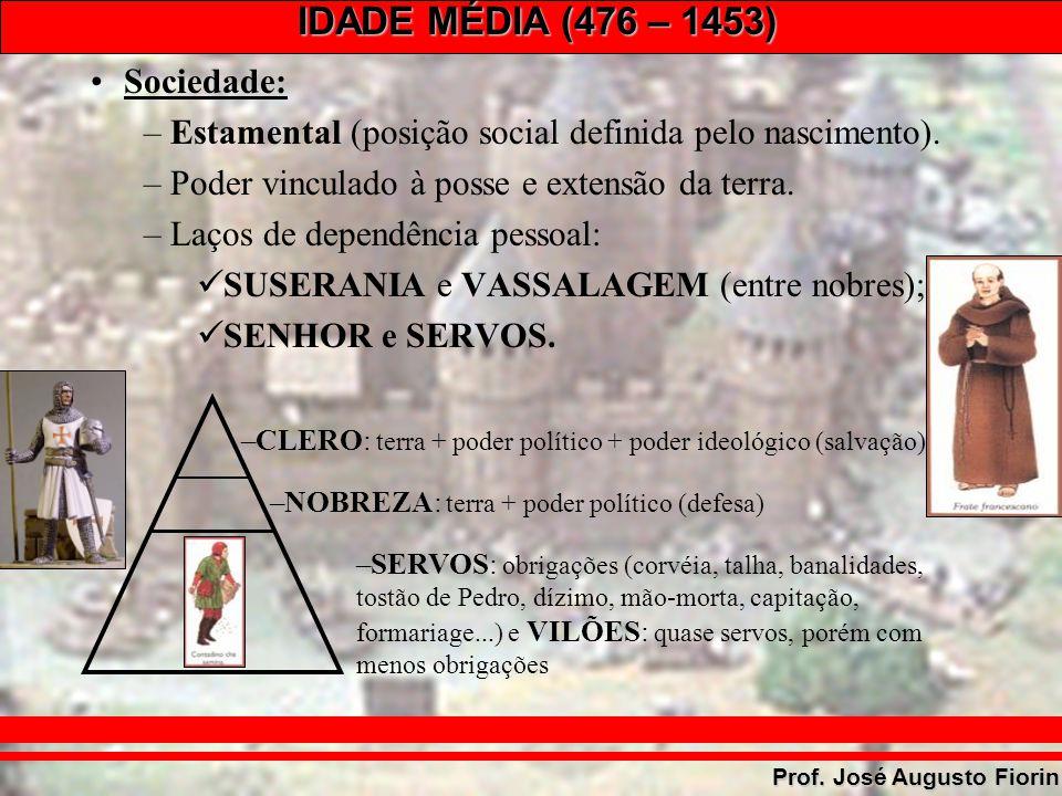 Estamental (posição social definida pelo nascimento).