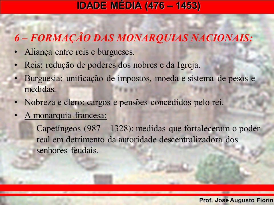 6 – FORMAÇÃO DAS MONARQUIAS NACIONAIS: