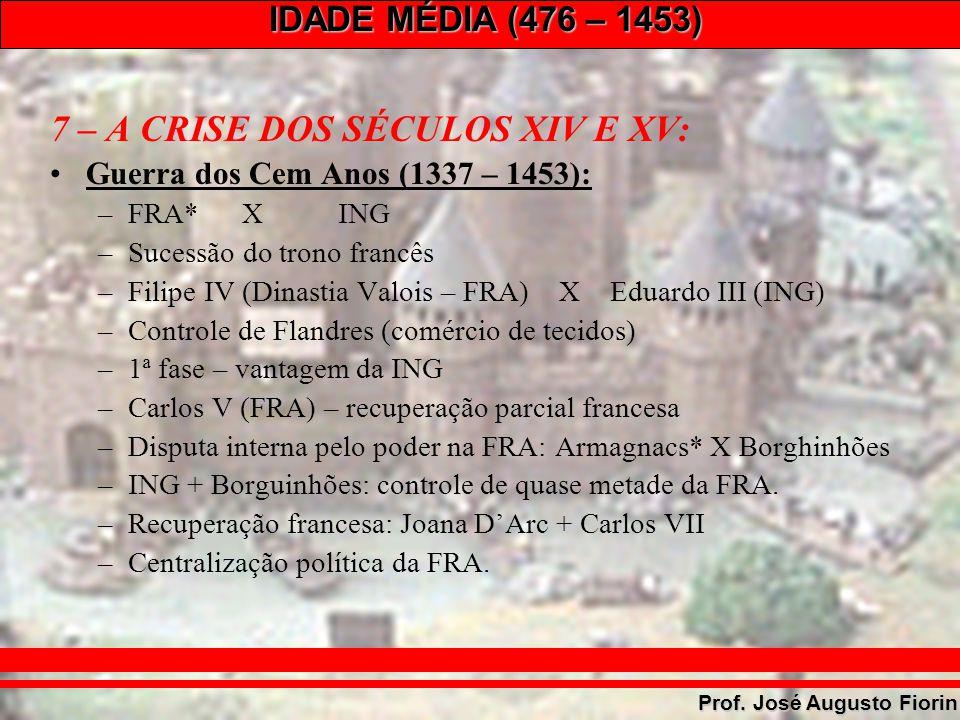 7 – A CRISE DOS SÉCULOS XIV E XV: