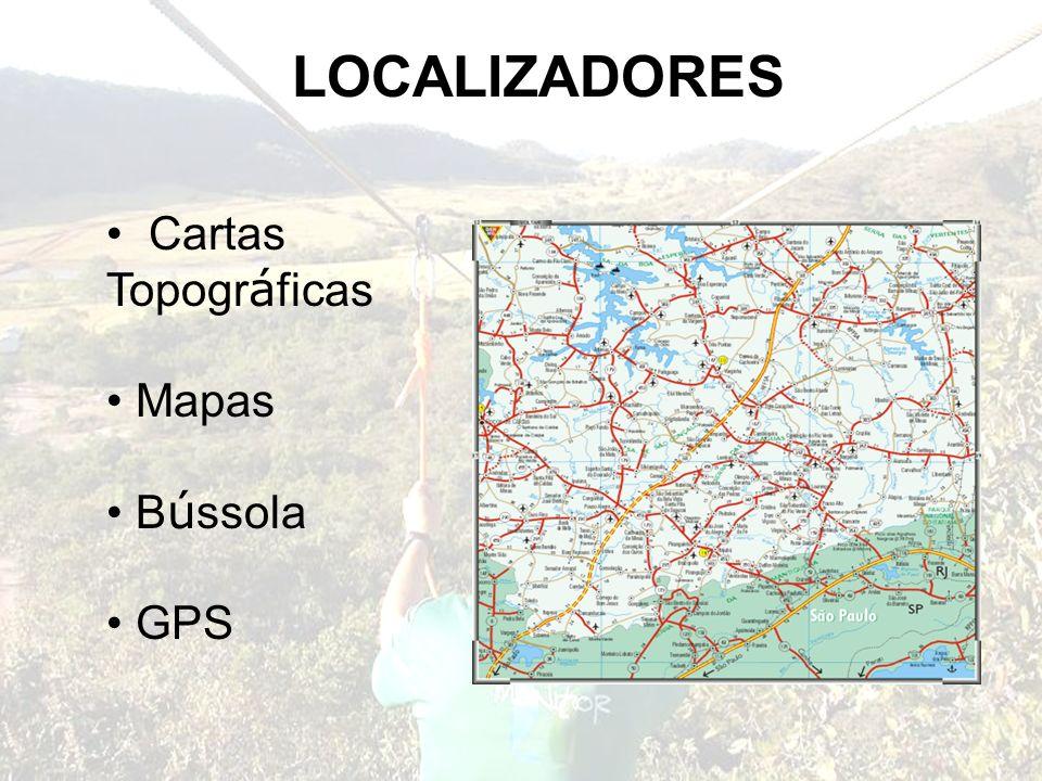 LOCALIZADORES Cartas Topográficas Mapas Bússola GPS