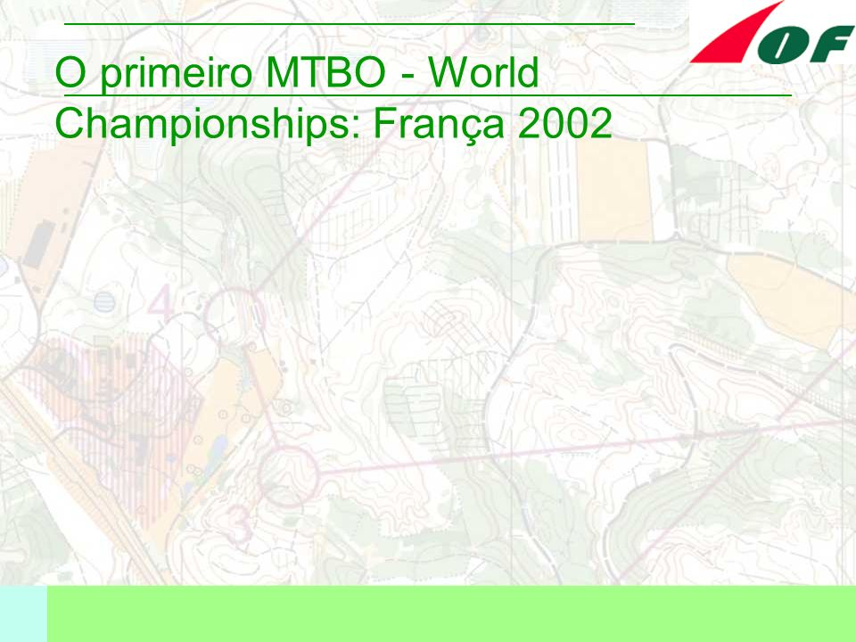 O primeiro MTBO - World Championships: França 2002