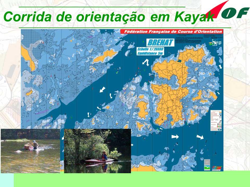 Corrida de orientação em Kayak
