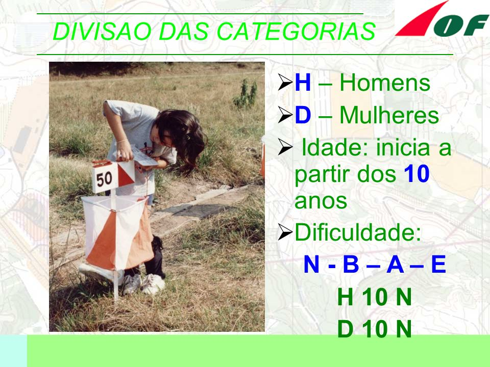 DIVISAO DAS CATEGORIAS