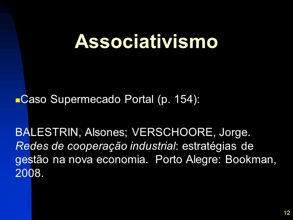 Associativismo Caso Supermecado Portal (p. 154):