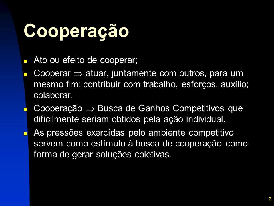 Cooperação Ato ou efeito de cooperar;