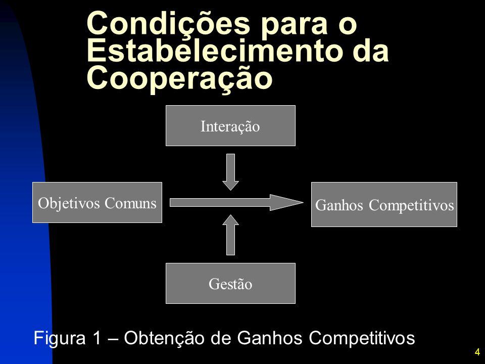 Condições para o Estabelecimento da Cooperação