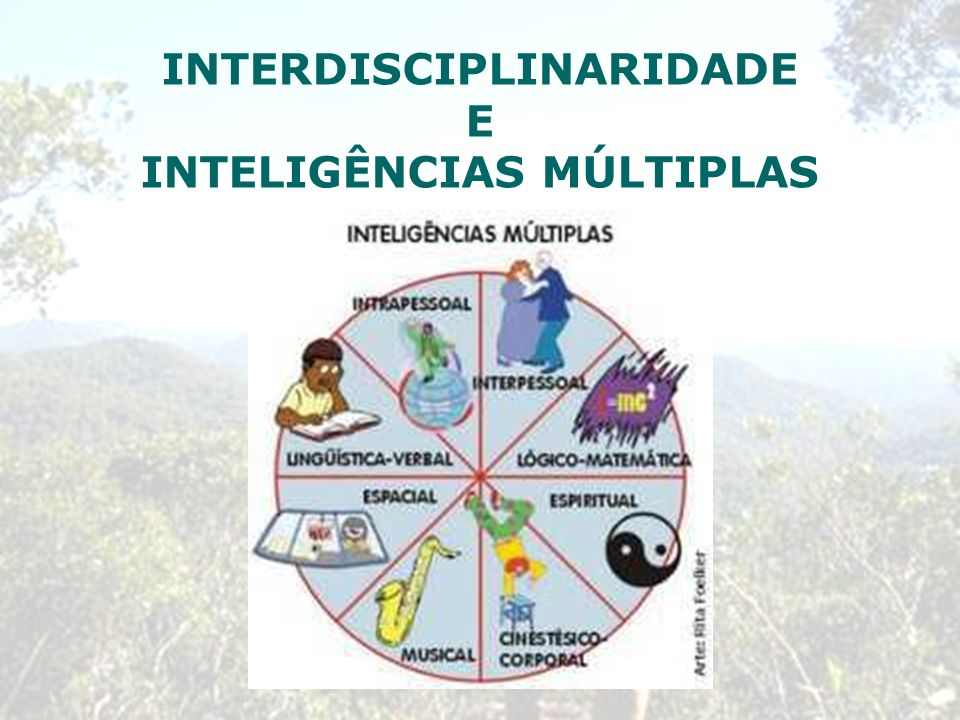 INTERDISCIPLINARIDADE INTELIGÊNCIAS MÚLTIPLAS