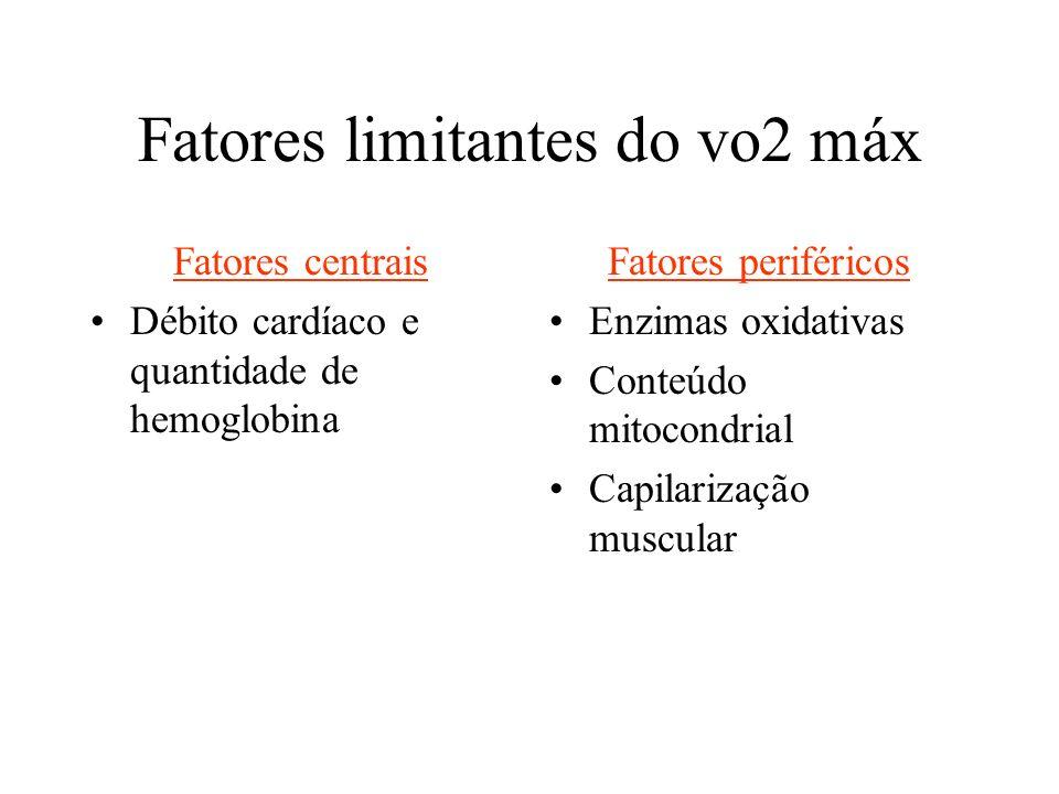 Fatores limitantes do vo2 máx