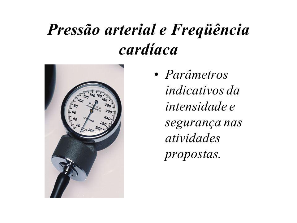 Pressão arterial e Freqüência cardíaca