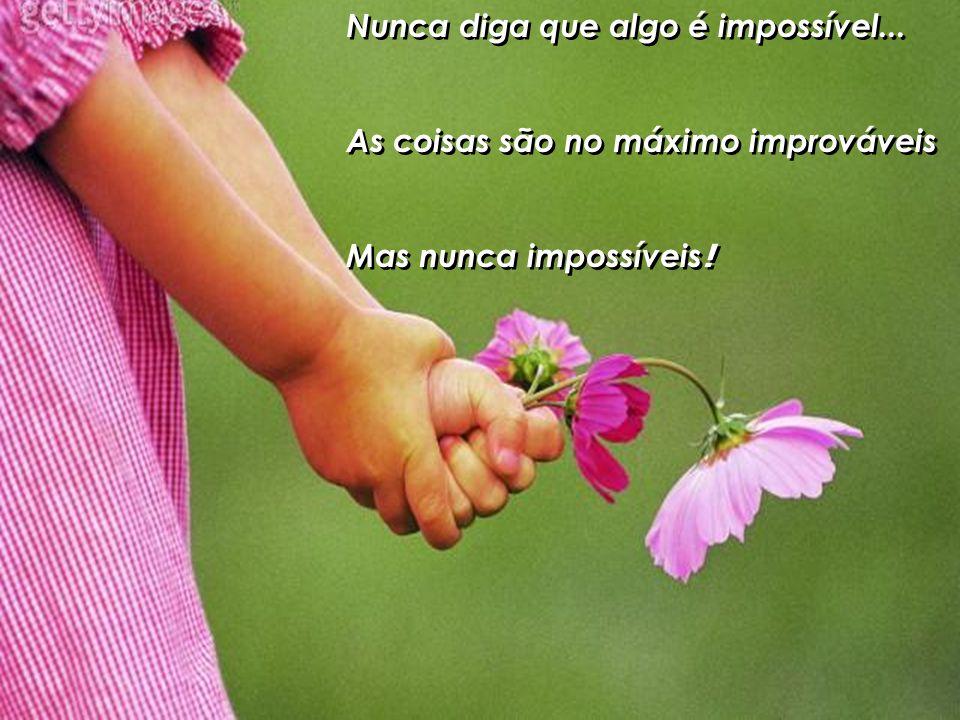 Nunca diga que algo é impossível...