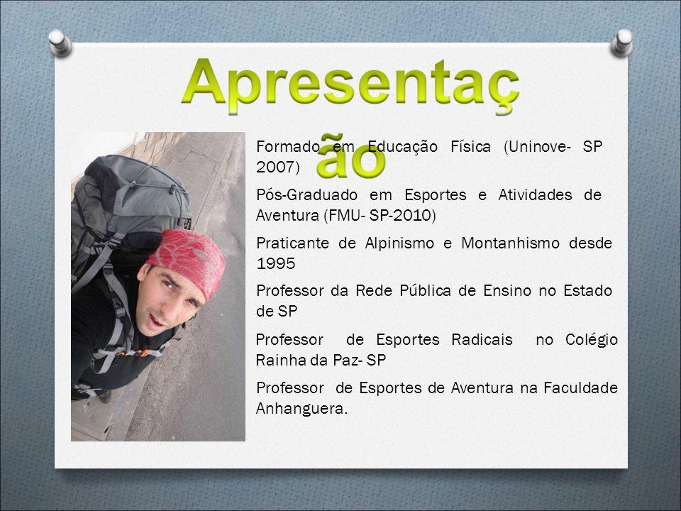 Formado em Educação Física (Uninove- SP 2007)