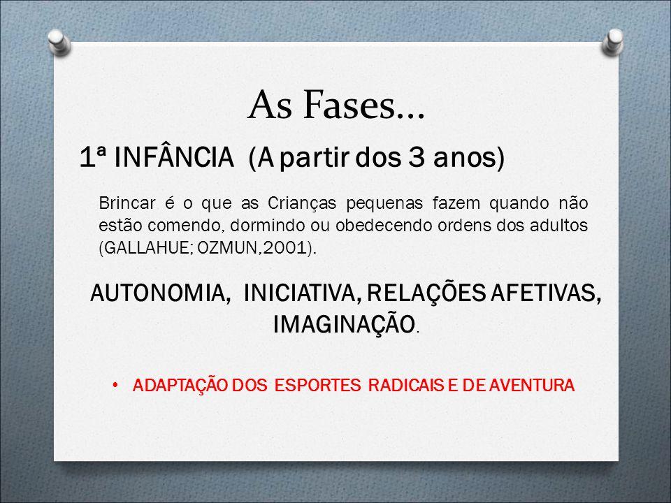 AUTONOMIA, INICIATIVA, RELAÇÕES AFETIVAS, IMAGINAÇÃO.