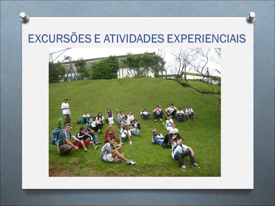 EXCURSÕES E ATIVIDADES EXPERIENCIAIS