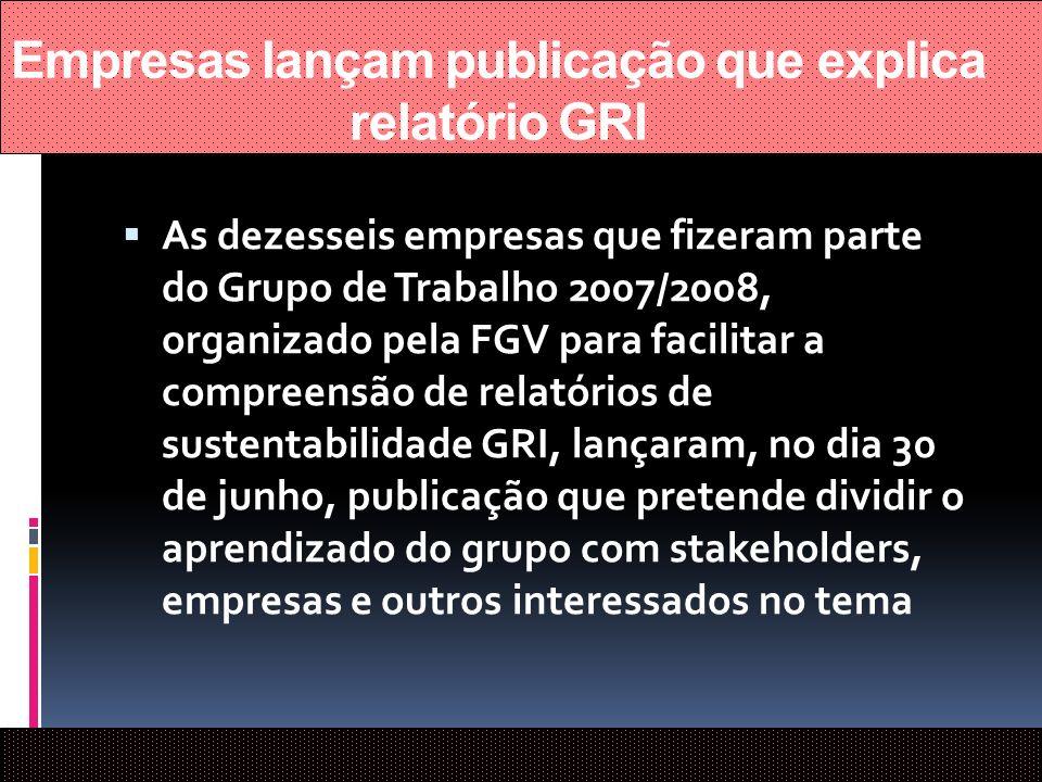 Empresas lançam publicação que explica relatório GRI