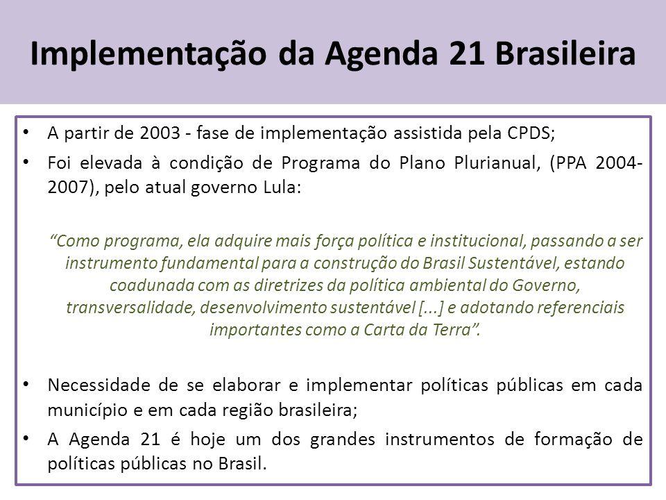 Implementação da Agenda 21 Brasileira