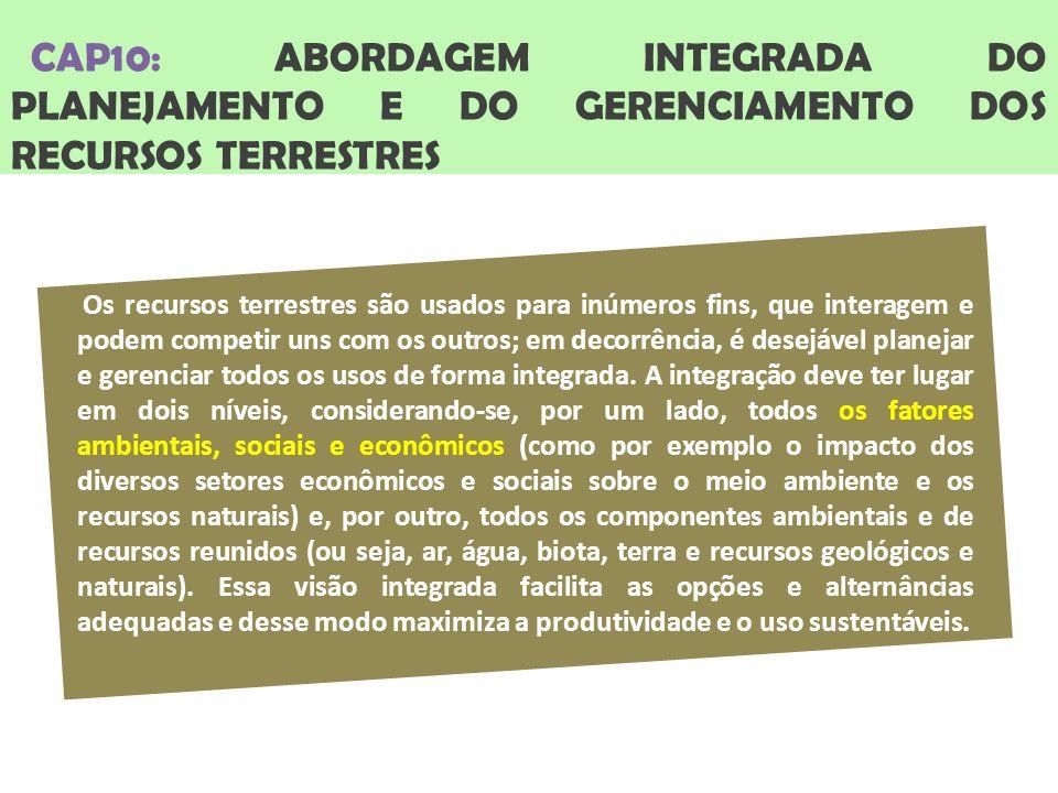 CAP10: ABORDAGEM INTEGRADA DO PLANEJAMENTO E DO GERENCIAMENTO DOS RECURSOS TERRESTRES