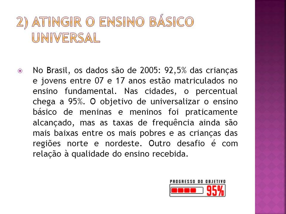 2) Atingir o ensino básico universal
