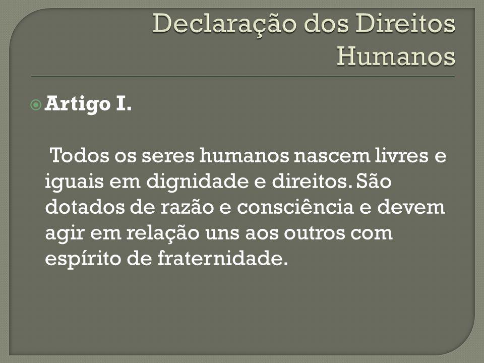 Declaração dos Direitos Humanos