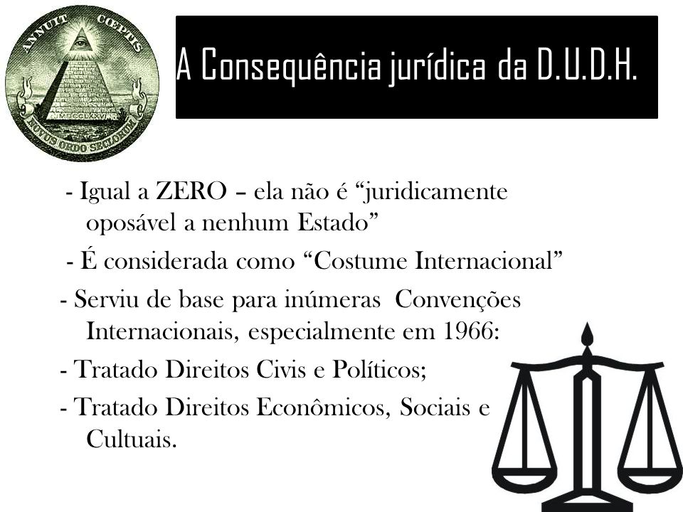A Consequência jurídica da D.U.D.H.