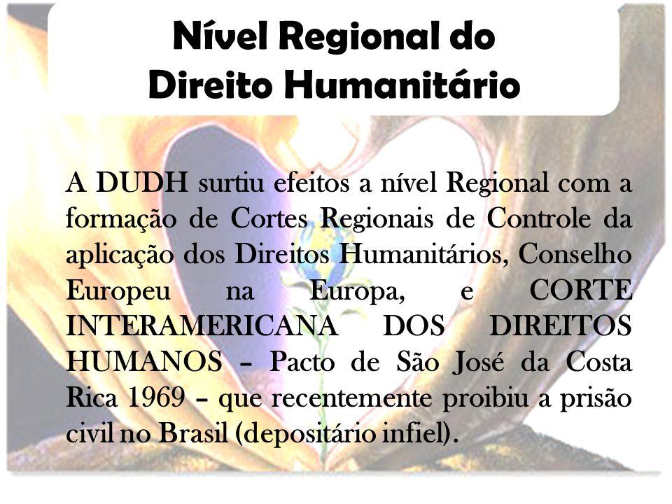 Nível Regional do Direito Humanitário