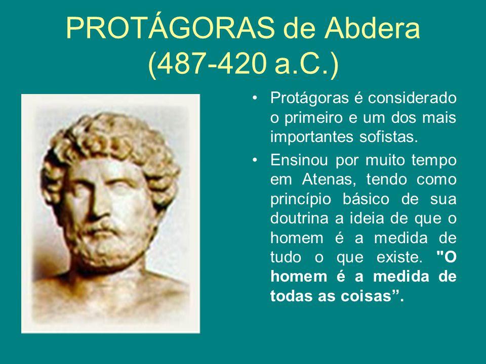 PROTÁGORAS de Abdera (487-420 a.C.)