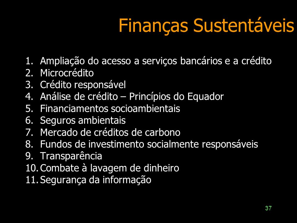 Finanças Sustentáveis