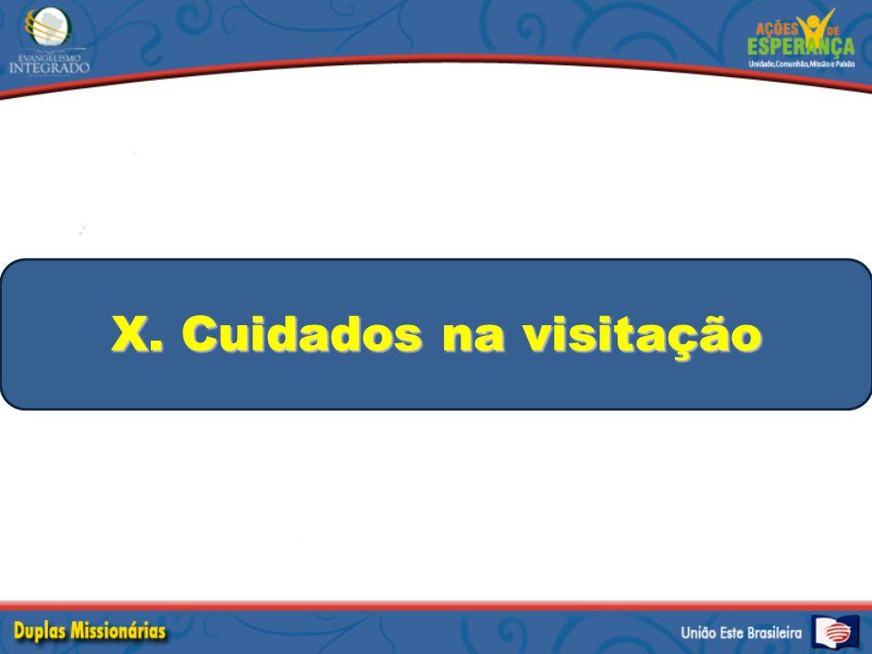 X. Cuidados na visitação
