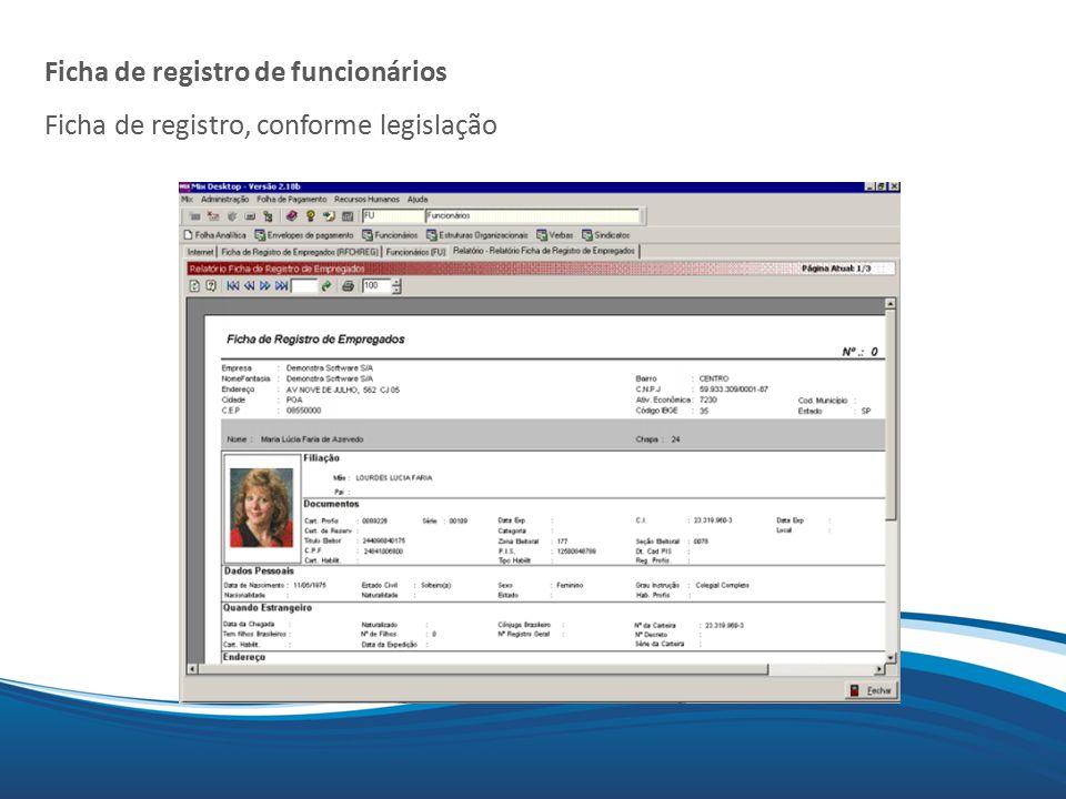 Ficha de registro de funcionários