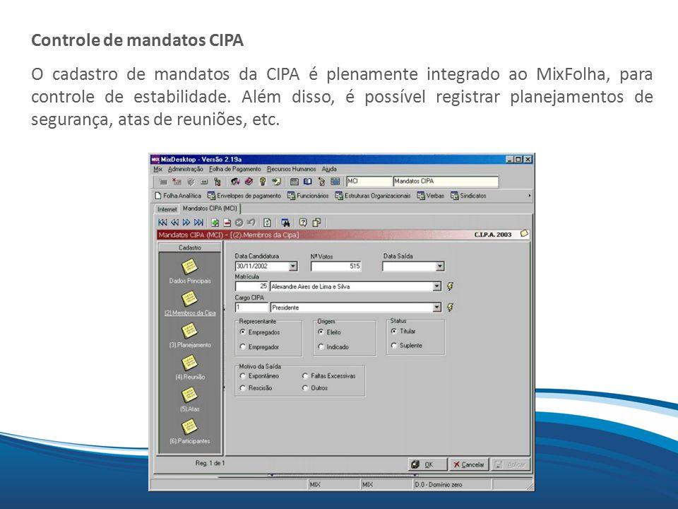 Controle de mandatos CIPA