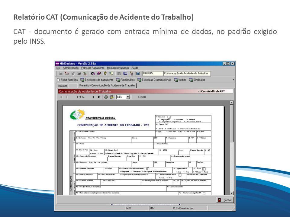 Relatório CAT (Comunicação de Acidente do Trabalho)