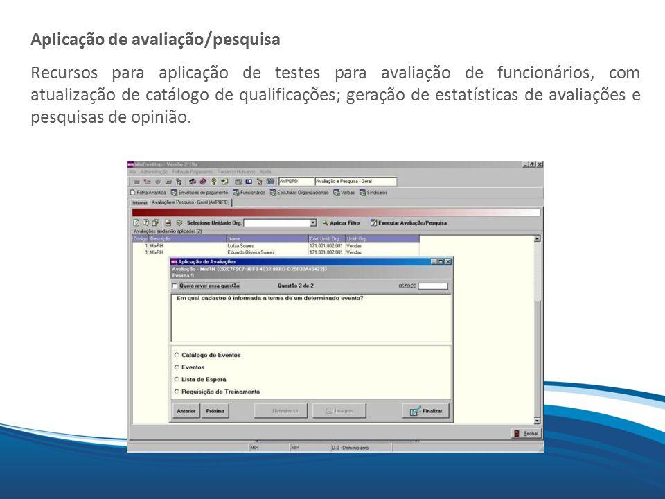 Aplicação de avaliação/pesquisa