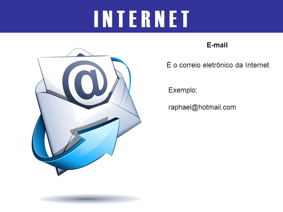 I N T E R N E T E-mail É o correio eletrônico da Internet Exemplo: