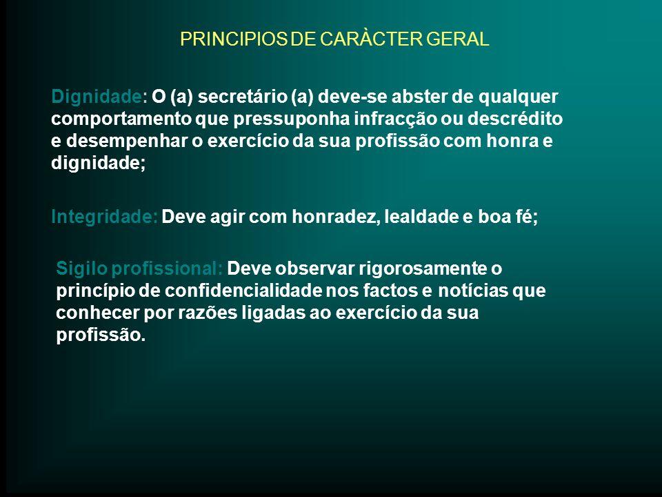 PRINCIPIOS DE CARÀCTER GERAL