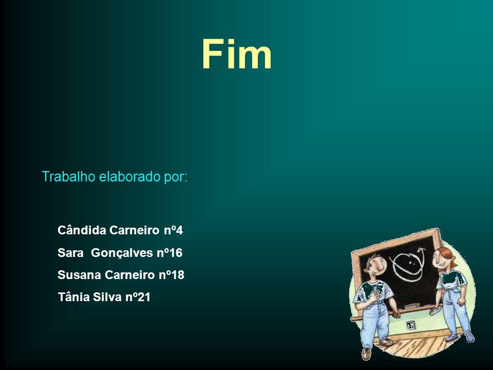 Fim Trabalho elaborado por: Cândida Carneiro nº4 Sara Gonçalves nº16