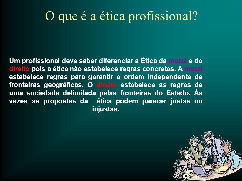 O que é a ética profissional