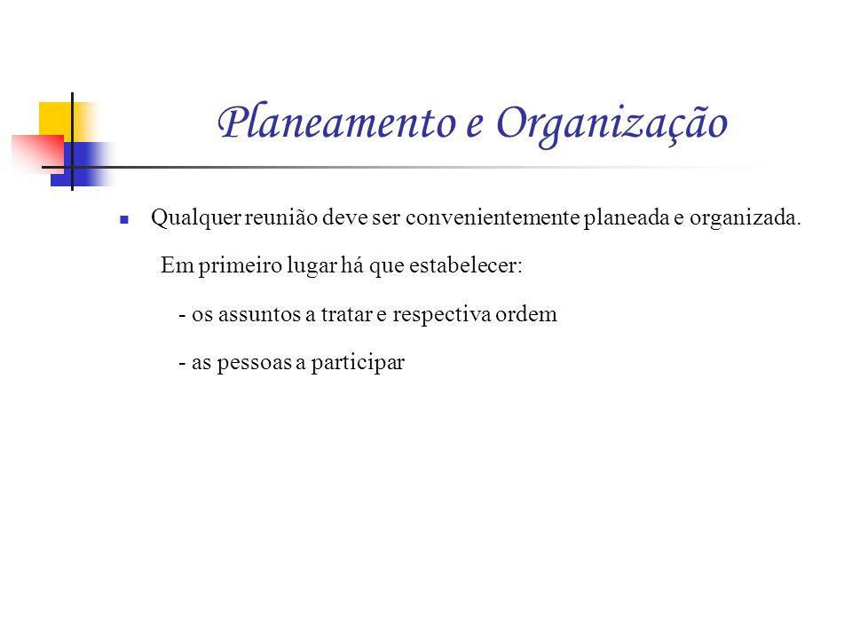 Planeamento e Organização