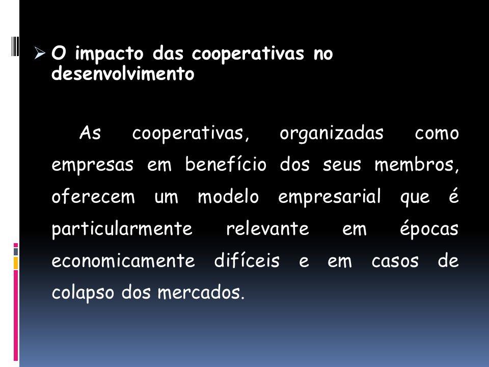 O impacto das cooperativas no desenvolvimento