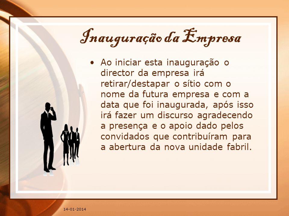 Inauguração da Empresa