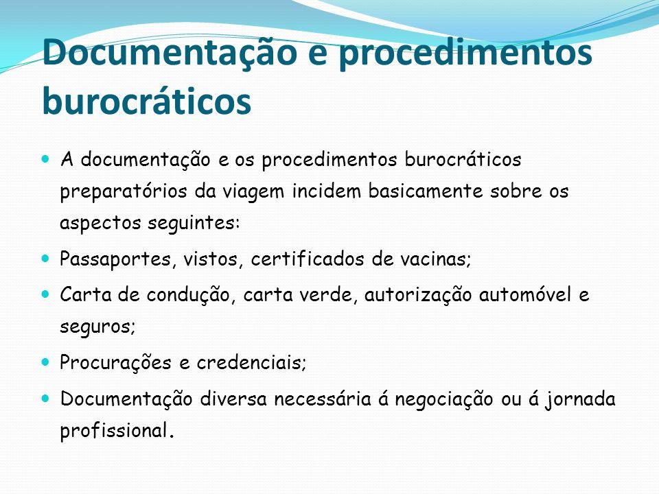 Documentação e procedimentos burocráticos