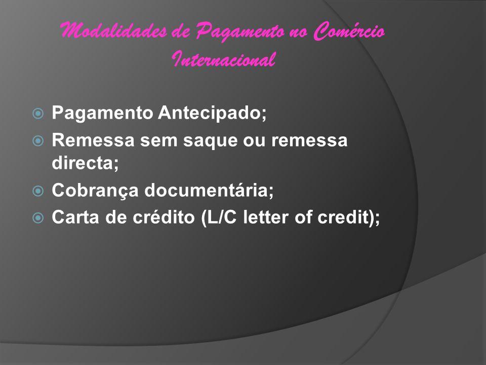 Modalidades de Pagamento no Comércio Internacional