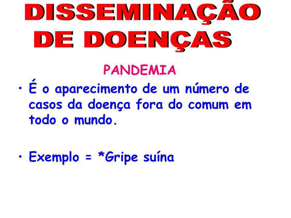 DISSEMINAÇÃO DE DOENÇAS PANDEMIA