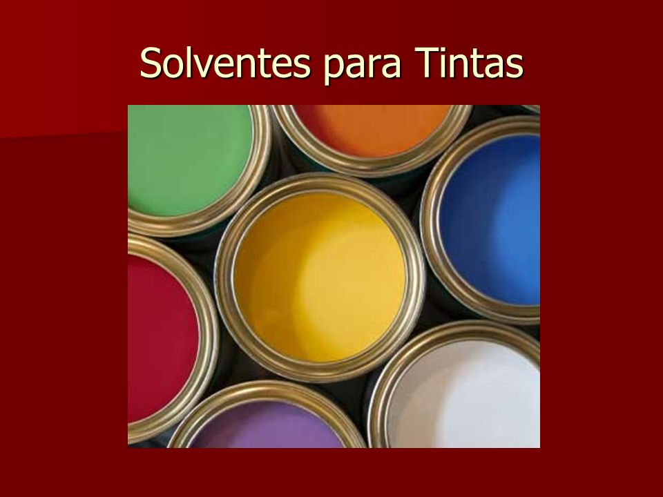 Solventes para Tintas
