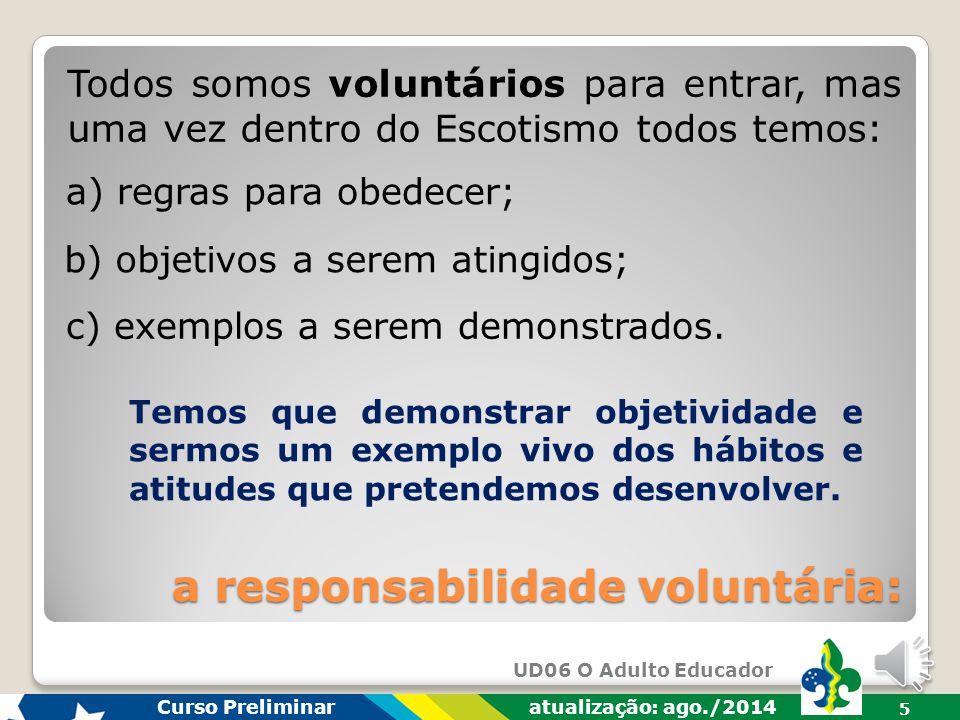 a responsabilidade voluntária: