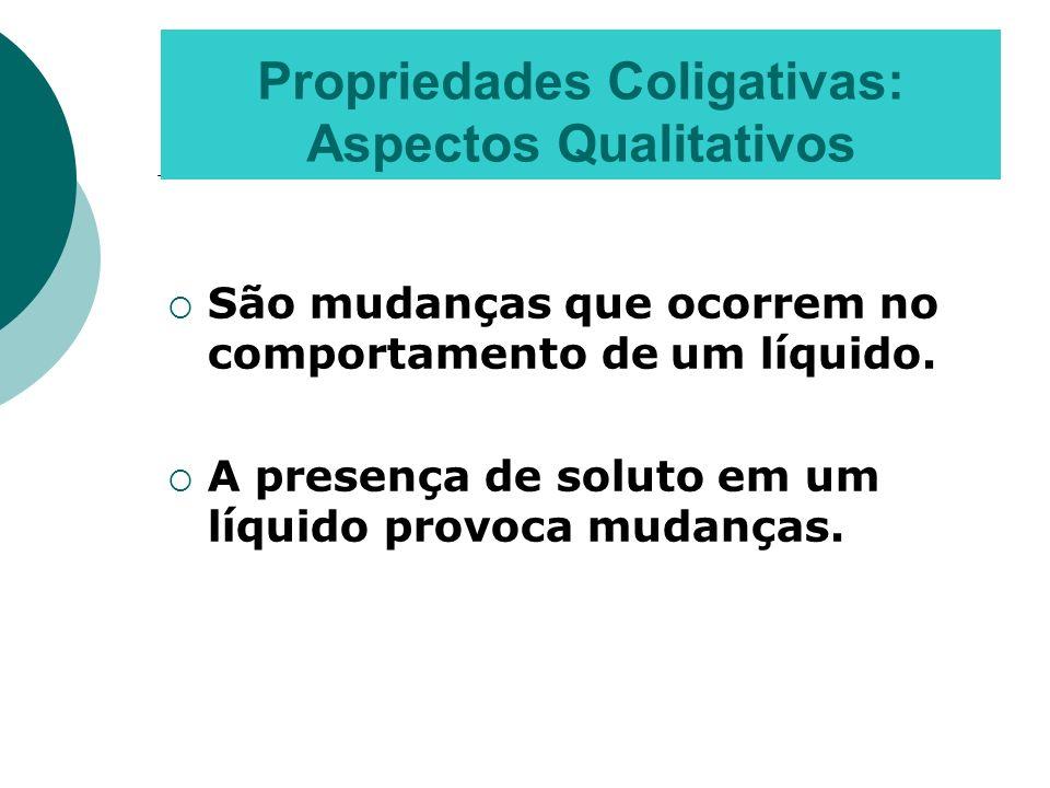 Propriedades Coligativas: Aspectos Qualitativos