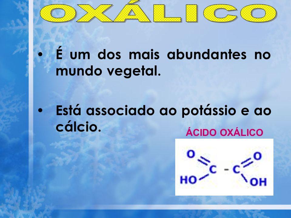 OXÁLICO É um dos mais abundantes no mundo vegetal.