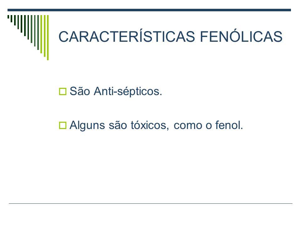 CARACTERÍSTICAS FENÓLICAS