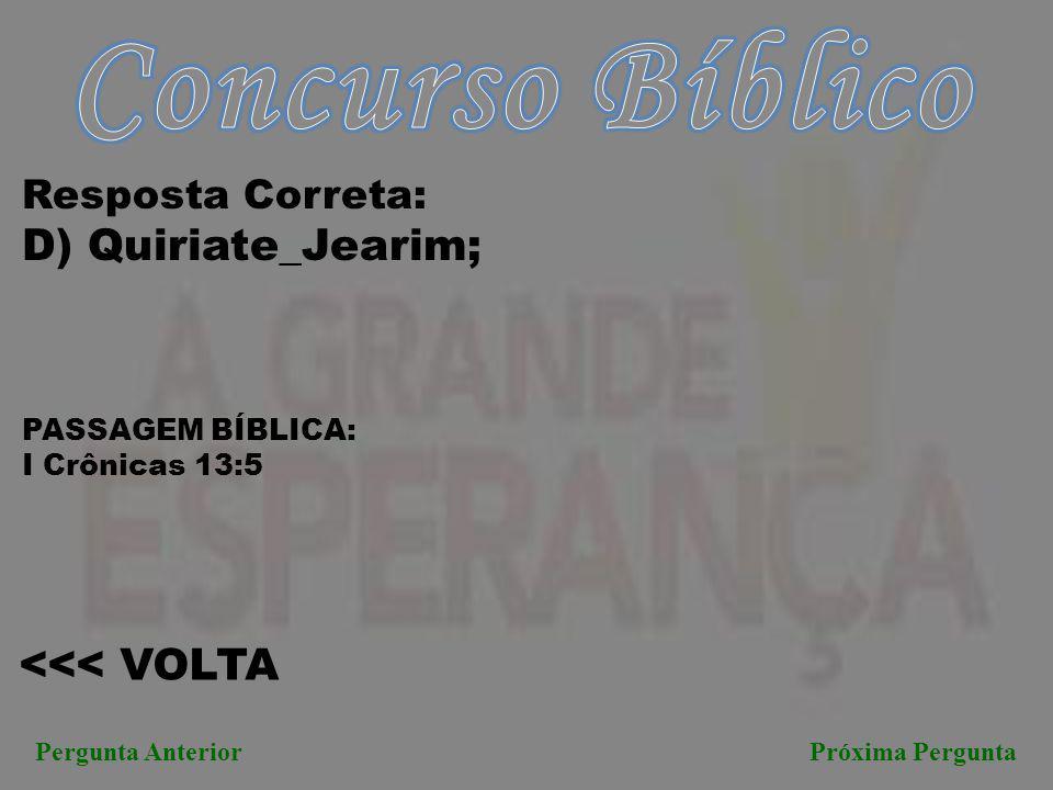 Concurso Bíblico D) Quiriate_Jearim; <<< VOLTA