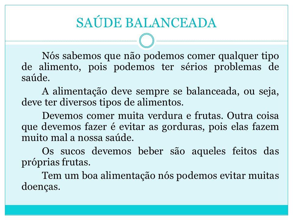 SAÚDE BALANCEADA