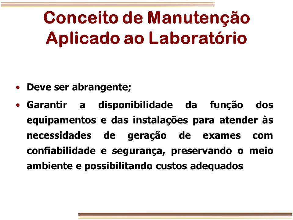 Conceito de Manutenção Aplicado ao Laboratório